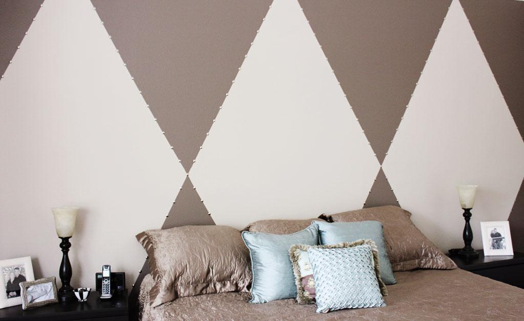 Diy Diamond Pattern Wall With Thumbtack Border Pride In