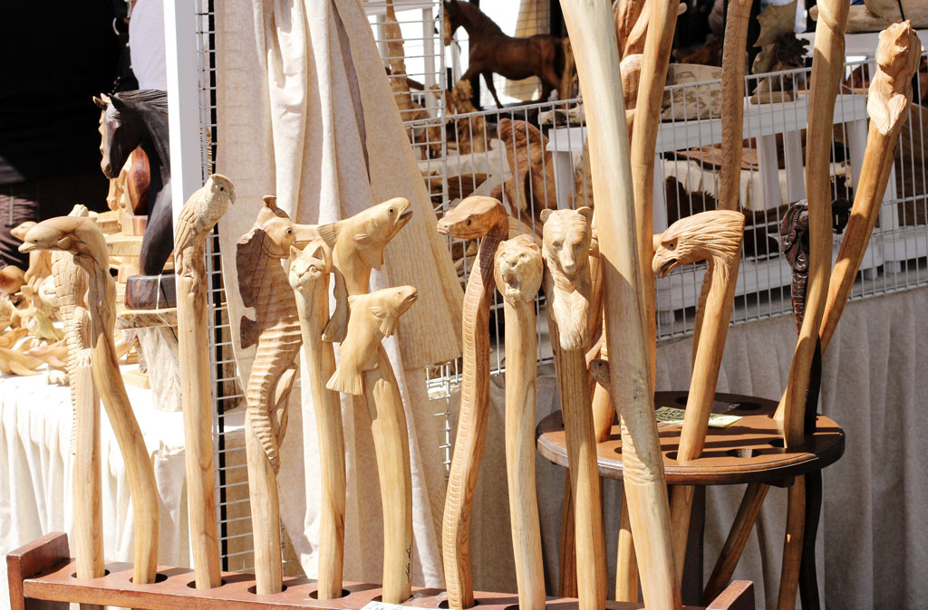 wood carved walking sticks