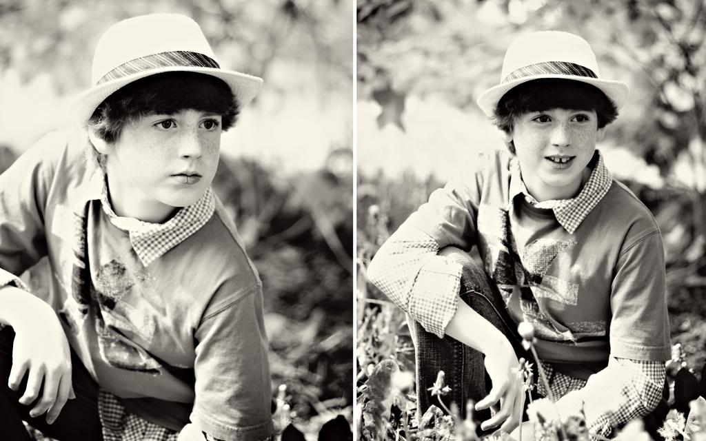 senior-portrait-red-hair-boy-model-black-and-white-photo