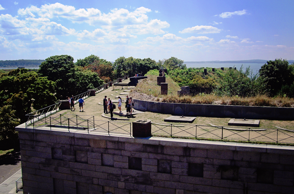 fort-warren-on-roof-george-island