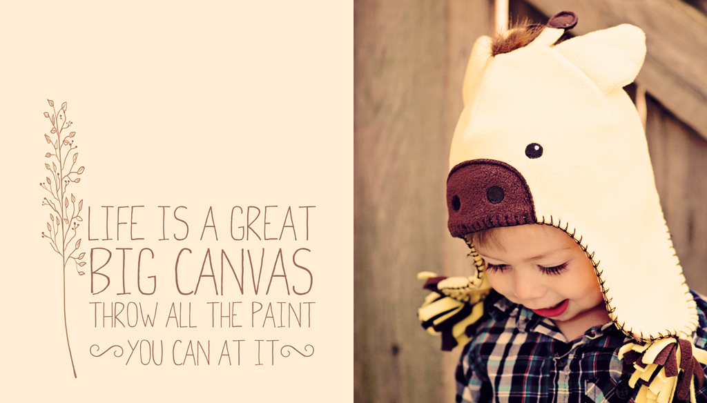 Life-is-a-great-big-canvas-photo-collage-2-year-old-boy