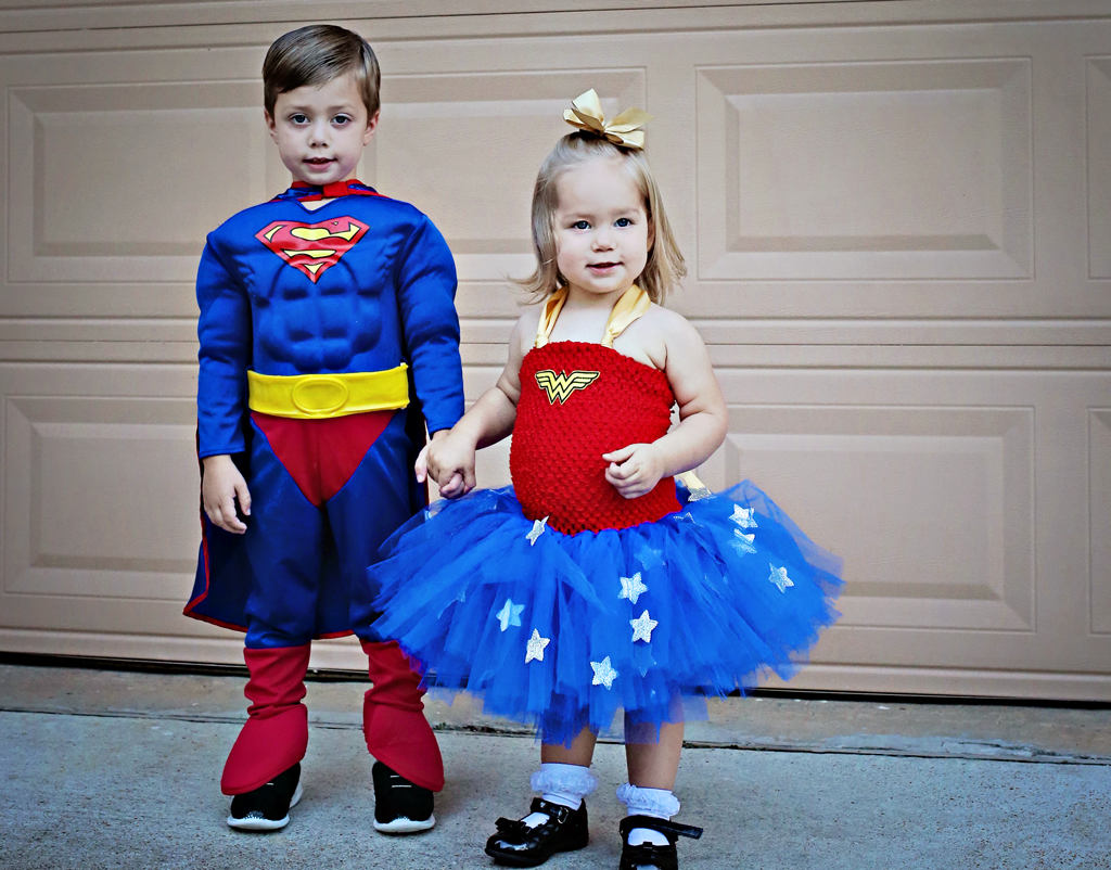 childrenssupermanwonderwomancostumes
